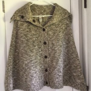 NWT Lucky Brand Wool Poncho